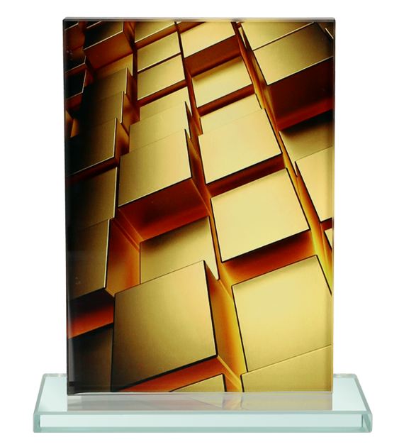 Glass award with 3D effect M82/D5 2