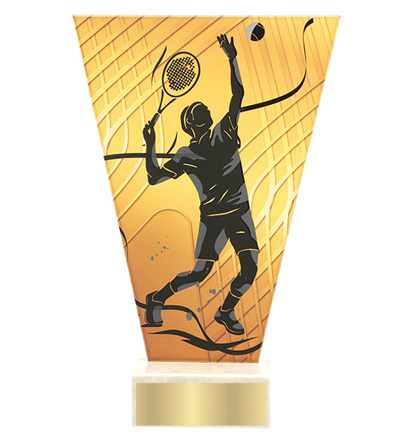 <span>Glass award  – tennis player<span style='color:#ff0066; font-weight:800;'> - PRODUCTION UP TO 5 WORKING DAYS</span></span> VL1/TEN2 1