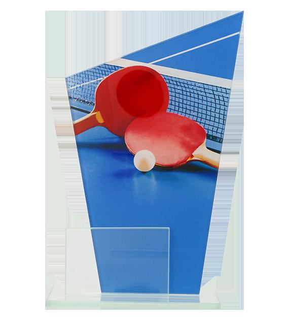 Glastrophäe, zweiGlasscheiben – Tischtennis DG1-C/TAB 2