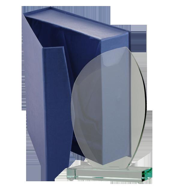 Glass trophy with presentation box G010 6