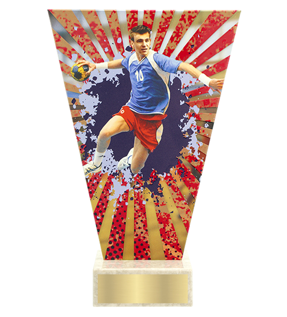 <span>Glass award  – handball<span style='color:#ff0066; font-weight:800;'> - PRODUCTION UP TO 5 WORKING DAYS</span></span> VL2/HAN 1