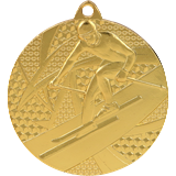 Medal 50mm skiing, 1st place - gold MMC8150 1