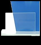 Glastrophäe, zweiGlasscheiben – Tischtennis DG1-C/TAB 5