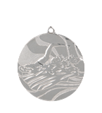 Medal 50 mm swimming, 2nd place - silver MMC2750/S 11