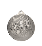Steel medal football 70 mm, 2nd place - silver MMC3070/S 11