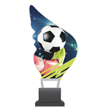 Plexiglass trophy on a plastic base - football CP01/SOC 1