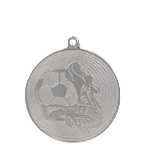 Medal 50 mm football, 2nd place - silver MMC9750/S 11
