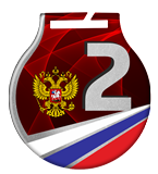 Steel medals with a colour print - RUSSIA MC61/S/RU2.2 2