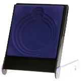 Blue plastic presentation box for medal 9x12x2 cm H1/BL 1