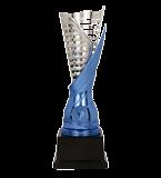 Silver & blue plastic cup SAURON BL 9089E 2