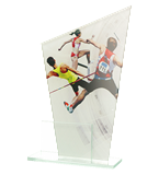 Glass award - two glass panels – athletics DG1 ATH 1