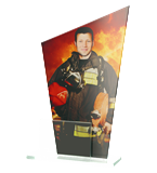 Glastrophäe, zweiGlasscheiben – Feuerwehr DG1 FIR 1