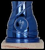 Кубок металлический серебряно-синий 4168A 4