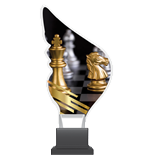 Plexiglass trophy on a plastic base - chess CP01/CHE 1