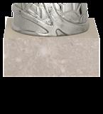 Кубок металлический серебряный 9099G 5