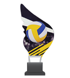 Plexiglass trophy on a plastic base - volleyball CP01/VOL 1