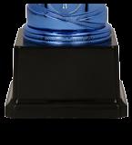 Silver & blue plastic cup SAURON BL 9089E 5