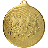 Steel medal running 70 mm, 1st place - gold  MMC3071 1