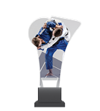 Plexiglass trophy on a plastic base - judo CP02/JUD 1