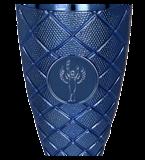 Металлическая чашка серебристо-синяя ELMOS BL 4208E 4