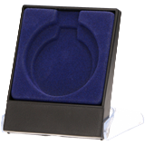 Blue plastic presentation box for medal 7x8.9 cm H3/BL 1