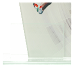 Glastrophäe, zweiGlasscheiben – Leichtathletik DG1-C/ATH 5