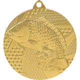 Medal 50 mm fishing, 1st place - gold MMC7950 1