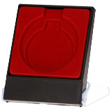 Red plastic presentation box for medal 7x8.9 cm H3/RD 1