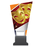 Glass trophy on a plastic base - theatre CG02C/THE 3
