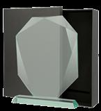 Glass award with presentation box G042. 1