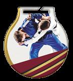 Stahl-Medaillen mit Aufdruck - judo  MC61/G/JUD 2