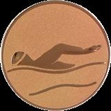 Aluminum emblem - swimming  D1-A9/B 1