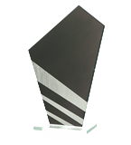 Glass trophy with colorful print QG01 1