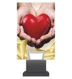 Glass trophy on a plastic base - heart CG01 HEA 1