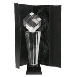 Glass trophy with presentation box C004 1