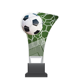 Plexiglass trophy on a plastic base - football CP02/SOC 1