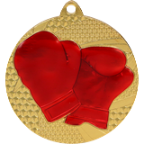 Medal 50 mm boxing, 1st place - gold MMC6450 1