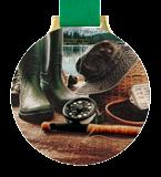 Steel medal FISHING - ATTRIBUTES MC6002/G-S+/FIS4 1