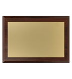 Wooden diploma with engraved gold aluminum plate HG2550 1