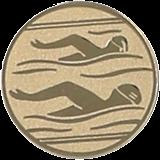 Aluminum emblem - swimming  D1-A10 1
