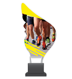 Plexiglass trophy on a plastic base - running CP01/RUN 1