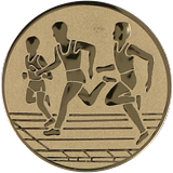 Aluminum emblem - running  D1-A32/G 1