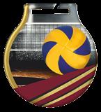 Stahl-Medaillen mit Aufdruck - Volleyball  MC61/G/VOL 1