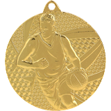 Medal 50 mm basketball, 1st place - gold MMC6850 1
