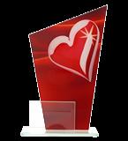 Glastrophäe, zweiGlasscheiben – Herz DG1-C/HEA 2