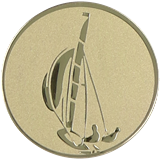 Aluminium Emblem - Segelboot D2-A16 1