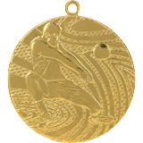 Medal 50 mm volleyball, 1st place - gold MMC1540 1