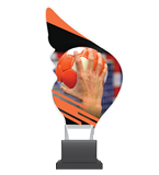 Plexiglass trophy on a plastic base - handball CP01/HAN 1