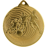 Steel medal football 70 mm, 1st place - gold   MMC3070 1