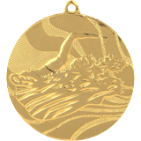 Medal 50 mm swimming, 1st place - gold MMC2750 1